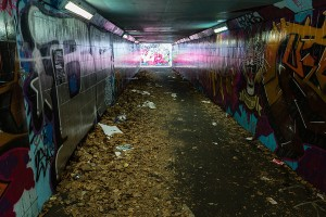 Junction's dark, litter strewn underpass fails the safety test.